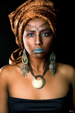Auteur fotograaf Sheep Photography - Model Samentha  - African style Mua Patricia Dream Visagie