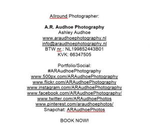 Auteur fotograaf Ashley Audhoe Araudhoephotography -